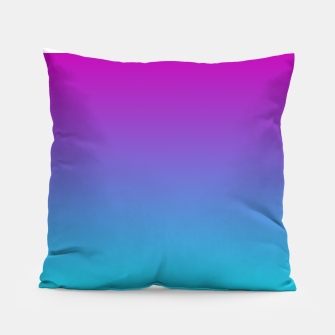 Thumbnail image of Purple Blue Turquoise Gradient Pillow, Live Heroes