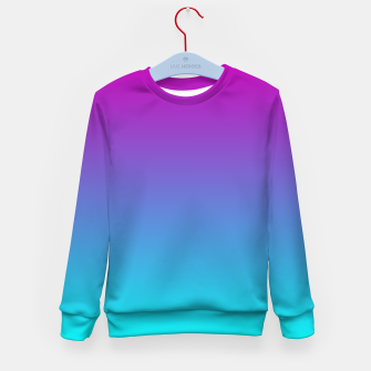 Thumbnail image of Purple Blue Turquoise Gradient Kid's sweater, Live Heroes
