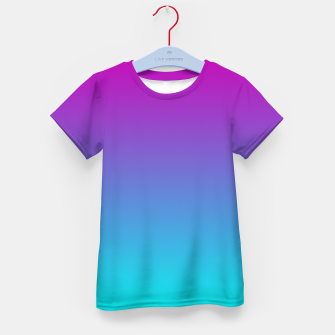 Thumbnail image of Purple Blue Turquoise Gradient Kid's t-shirt, Live Heroes