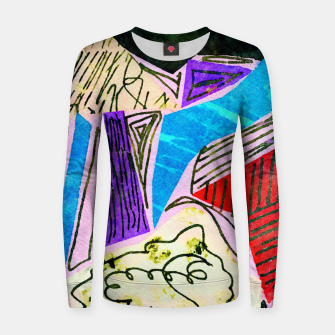 Thumbnail image of Noisy Clouds Women sweater, Live Heroes