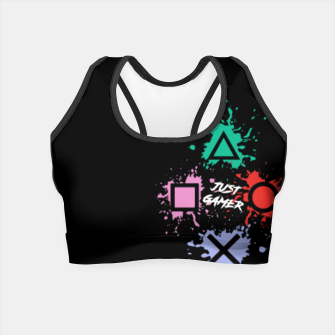 Thumbnail image of Just Gamer Crop Top, Live Heroes