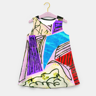 Thumbnail image of Noisy Clouds Girl's summer dress, Live Heroes