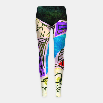 Thumbnail image of Noisy Clouds Girl's leggings, Live Heroes