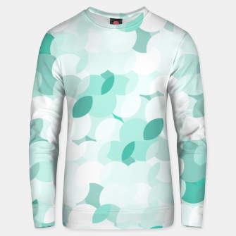 Thumbnail image of Teal blue abstract fluffy clouds, soft blue summer design Unisex sweater, Live Heroes