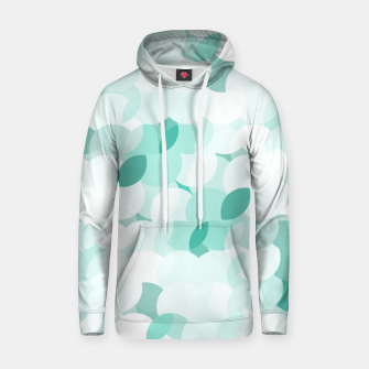 Thumbnail image of Teal blue abstract fluffy clouds, soft blue summer design Hoodie, Live Heroes
