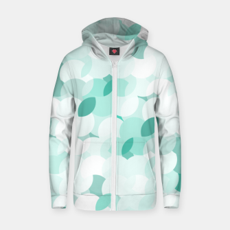Thumbnail image of Teal blue abstract fluffy clouds, soft blue summer design Zip up hoodie, Live Heroes
