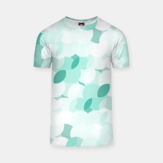 Thumbnail image of Teal blue abstract fluffy clouds, soft blue summer design T-shirt, Live Heroes