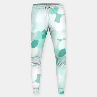 Thumbnail image of Teal blue abstract fluffy clouds, soft blue summer design Sweatpants, Live Heroes