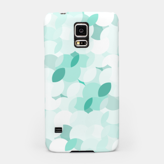 Thumbnail image of Teal blue abstract fluffy clouds, soft blue summer design Samsung Case, Live Heroes
