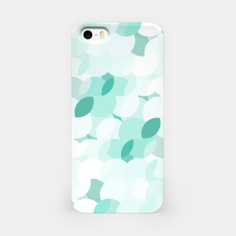 Thumbnail image of Teal blue abstract fluffy clouds, soft blue summer design iPhone Case, Live Heroes