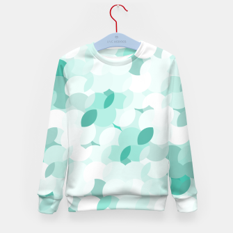 Thumbnail image of Teal blue abstract fluffy clouds, soft blue summer design Kid's sweater, Live Heroes