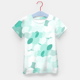 Thumbnail image of Teal blue abstract fluffy clouds, soft blue summer design Kid's t-shirt, Live Heroes