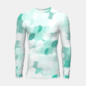Thumbnail image of Teal blue abstract fluffy clouds, soft blue summer design Longsleeve rashguard , Live Heroes