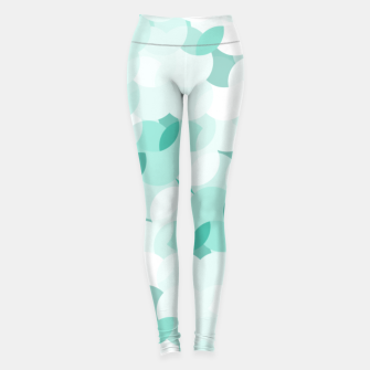 Thumbnail image of Teal blue abstract fluffy clouds, soft blue summer design Leggings, Live Heroes