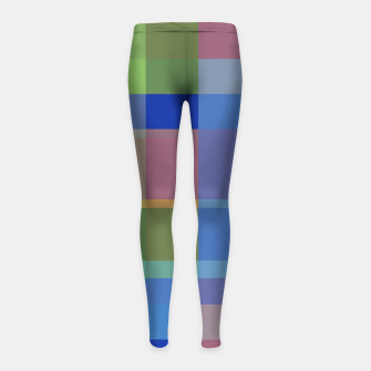 Thumbnail image of zappwaits colorful Girl's leggings, Live Heroes