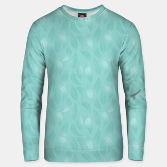 Thumbnail image of Bleached Coral Aqua Leaves  Unisex sweater, Live Heroes
