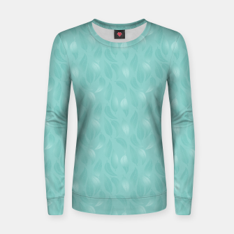 Thumbnail image of Bleached Coral Aqua Leaves  Women sweater, Live Heroes