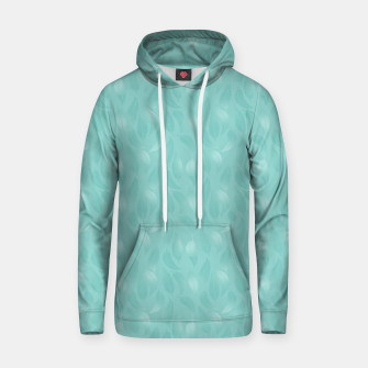 Thumbnail image of Bleached Coral Aqua Leaves  Hoodie, Live Heroes