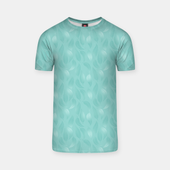 Thumbnail image of Bleached Coral Aqua Leaves  T-shirt, Live Heroes