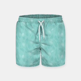 Thumbnail image of Bleached Coral Aqua Leaves  Swim Shorts, Live Heroes