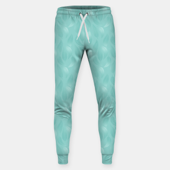 Thumbnail image of Bleached Coral Aqua Leaves  Sweatpants, Live Heroes