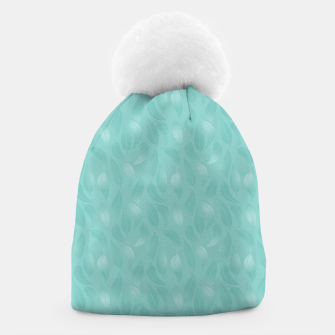 Thumbnail image of Bleached Coral Aqua Leaves  Beanie, Live Heroes