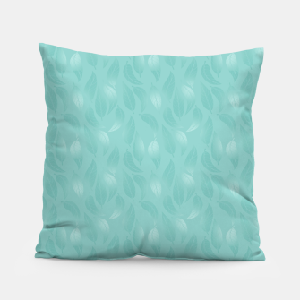 Thumbnail image of Bleached Coral Aqua Leaves  Pillow, Live Heroes