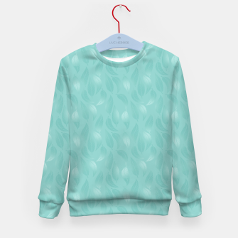 Thumbnail image of Bleached Coral Aqua Leaves  Kid's sweater, Live Heroes