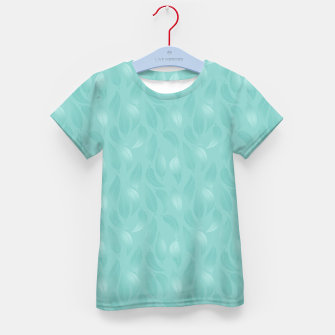 Thumbnail image of Bleached Coral Aqua Leaves  Kid's t-shirt, Live Heroes