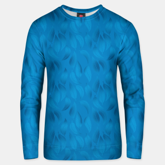 Thumbnail image of Shades of Light Blue Leaves Unisex sweater, Live Heroes