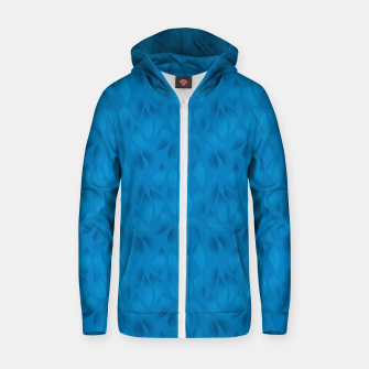 Thumbnail image of Shades of Light Blue Leaves Zip up hoodie, Live Heroes