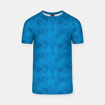 Thumbnail image of Shades of Light Blue Leaves T-shirt, Live Heroes