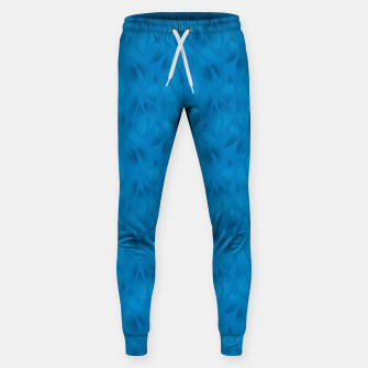 Thumbnail image of Shades of Light Blue Leaves Sweatpants, Live Heroes