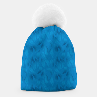 Thumbnail image of Shades of Light Blue Leaves Beanie, Live Heroes