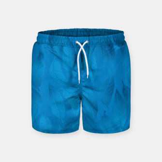 Thumbnail image of Shades of Light Blue Leaves Swim Shorts, Live Heroes