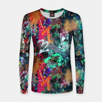 Miniatur Graffiti and Paint Splatter  Women sweater, Live Heroes