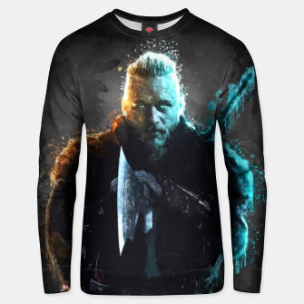 Thumbnail image of Ragnar Lothbrok - Legendary Viking Hero Unisex sweater, Live Heroes