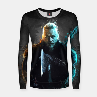 Thumbnail image of Ragnar Lothbrok - Legendary Viking Hero Women sweater, Live Heroes