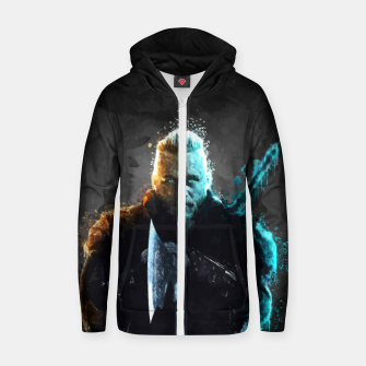 Thumbnail image of Ragnar Lothbrok - Legendary Viking Hero Zip up hoodie, Live Heroes