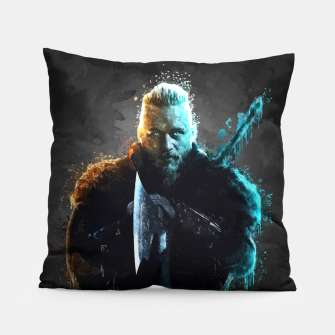 Thumbnail image of Ragnar Lothbrok - Legendary Viking Hero Pillow, Live Heroes