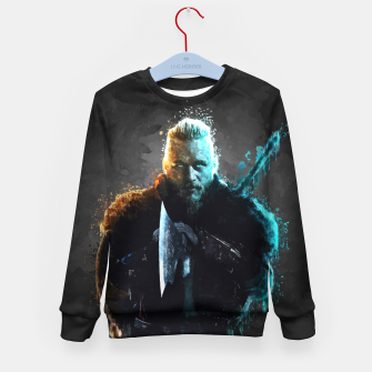 Thumbnail image of Ragnar Lothbrok - Legendary Viking Hero Kid's sweater, Live Heroes