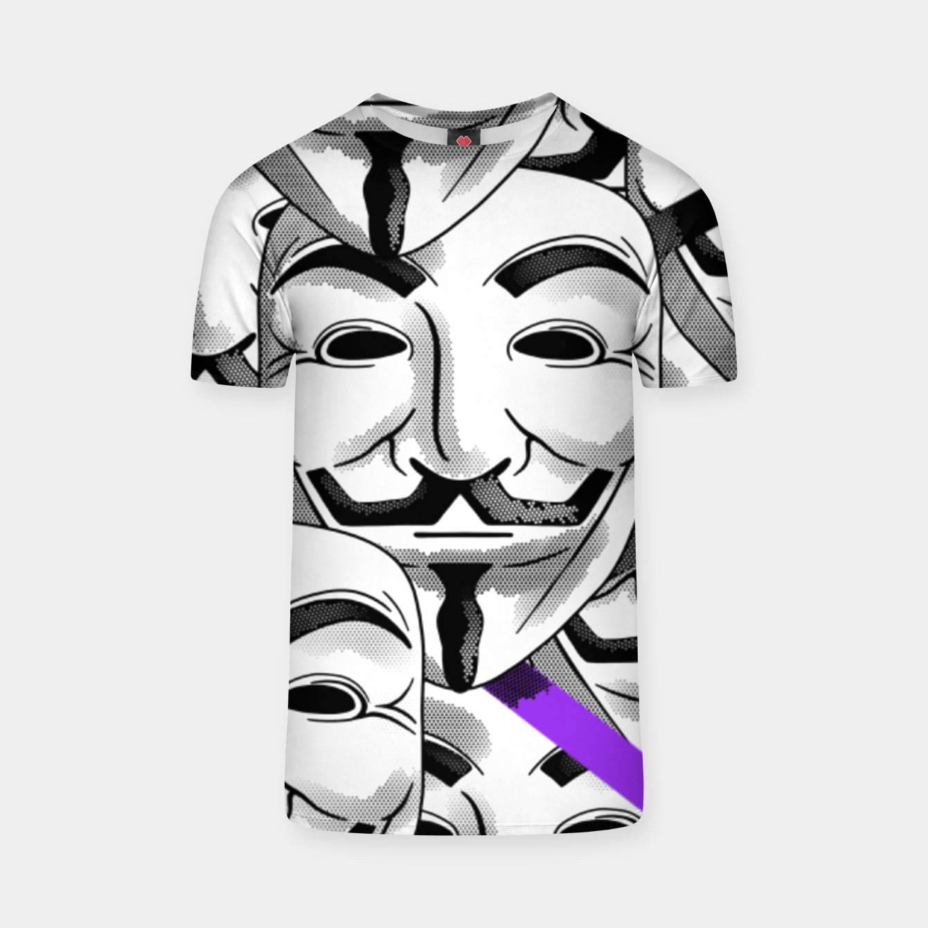 Image of Anonymous - T-shirt - Live Heroes