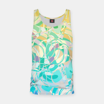 Thumbnail image of Summer Beach Days Abstract - Yellows And Blues Tank Top, Live Heroes