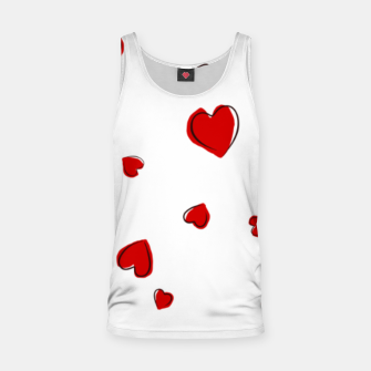 Thumbnail image of Red Hearts on White Tank Top, Live Heroes