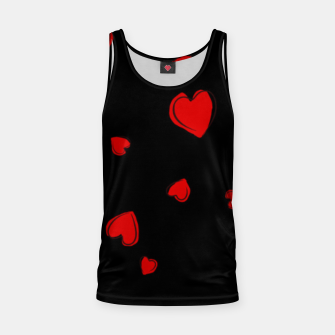 Thumbnail image of Red Hearts on Black Tank Top, Live Heroes