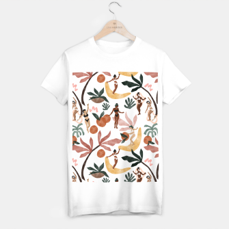 Miniatur Fruit party on the beach Camiseta Regular, Live Heroes