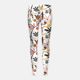 Miniatur Fruit party on the beach Leggings para niña, Live Heroes