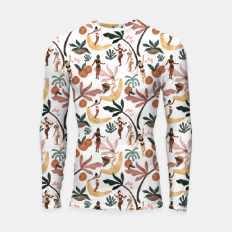 Miniatur Fruit party on the beach Longsleeve rashguard, Live Heroes