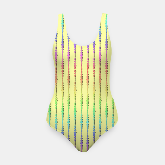 Thumbnail image of Mod Rainbow Bead Strings on Yellow Swimsuit, Live Heroes