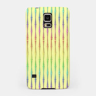 Thumbnail image of Mod Rainbow Bead Strings on Yellow Samsung Case, Live Heroes